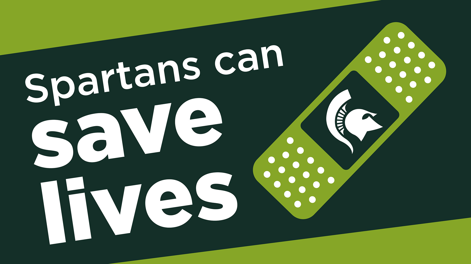 Spartans can save lives graphic
